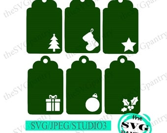 Gift Tags Svg File Etsy