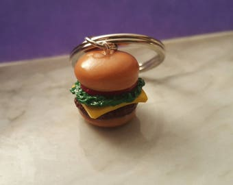 Cheeseburger Keychain