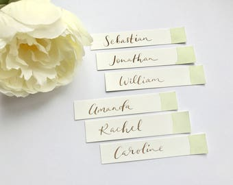 Watercolour wash place cards - weddings, events