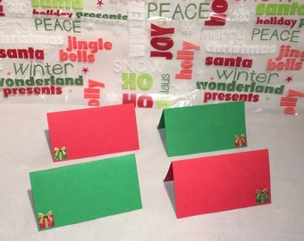 Christmas Present place settings/food labels set of 6