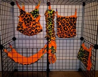 custom 5 piece sugar glider cage set sugar glider accessories sugar glider toys