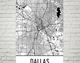 Dallas Map, Dallas Art, Dallas Print, Dallas TX Poster, Dallas Wall Art, Dallas Texas Gift, Dallas Decor, Dallas Map Art, Dallas Art Print