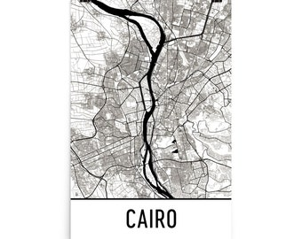 Cairo Map, Cairo Art, Cairo Print, Cairo Egypt Poster, Cairo Wall Art, Map of Cairo, Cairo Gift, Cairo Map Art Print, Cairo Decor, Map Art