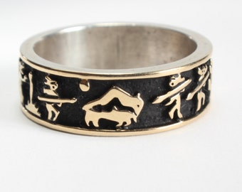 Victory Dance Ring MM Rogers 14k Gold Sterling Victory Dance Panorama