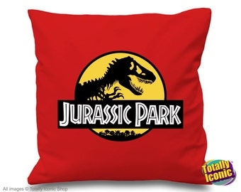 Jurassic Park  - Pillow Cushion Cover - Inspired style from the classic film.