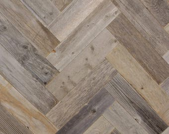 Reclaimed Barn Wood Planks - Herringbone Pattern - 20 Square Feet
