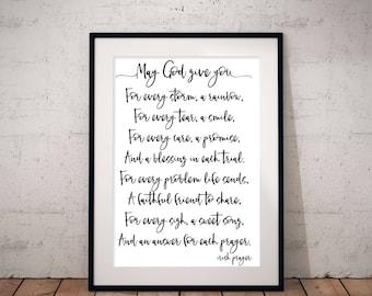 Irish Prayer Downloadable Print