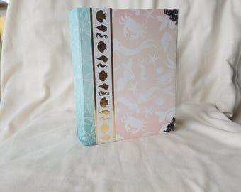 Mermaid mini album, beach mini album, vacation memory album, beach photo album, mermaid scrapbook, mermaid memory album, mermaid photo album
