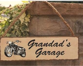 Grandads garage sign  gift for him