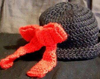 Black Hat w/Red Bow on Side