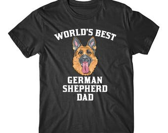 World's Best German Shepherd Dad Dog Owner Graphic T-Shirt