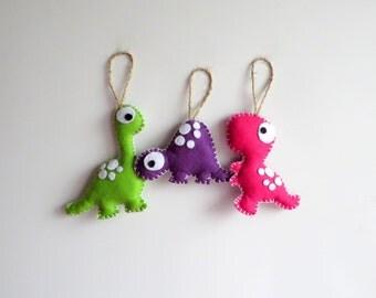 Dinosaurs felt ornaments