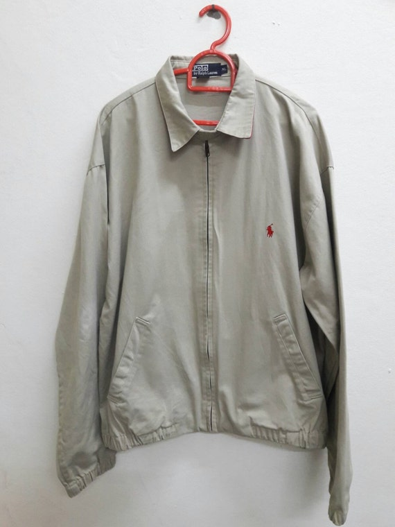 Vintage Polo By Ralph Lauren Khaki Made In USA Jacket size XL