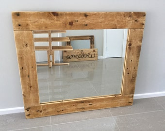 Large Mirror from Pallets