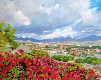 Saddle Back Mountains Painting Print