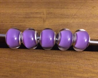 European Style Beads  //  Purple - Lavendar  //  Murano inspired   //  Lampwork  //  Pandora inspired  //  Bracelet and Necklace Beads