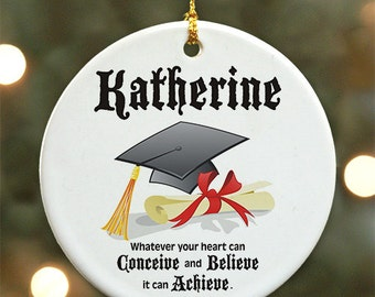 Personalized Graduation Ornament - Personalized with Name
