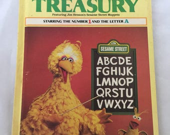 "Vintage 1983 ""The Sesame Street Treasury"" Volume 1 Children's Book"