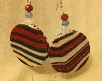 Multicolor striped earrings