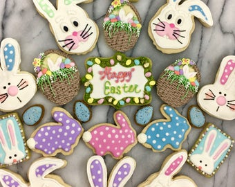 Easter Bunnies, Chicks, & Ducks Cookies