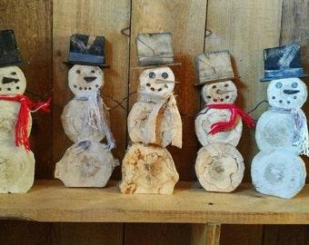 Log Slice Snowman