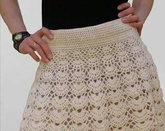 Crochet mini skirt - Made to order