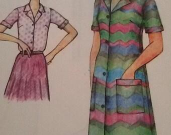 Dress buttoned sleeves short vintage size 40/french vintage dress
