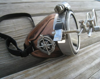 Aviator Steampunk Monocle with Key Necklace