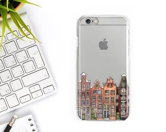iPhone 7 Case Clear Amsterdam iPhone 7 Plus Case iPhone 6S Case Rubber iPhone 6 Case iPhone 6 plus case iPhone 6s Plus Case Samsung S7 Case