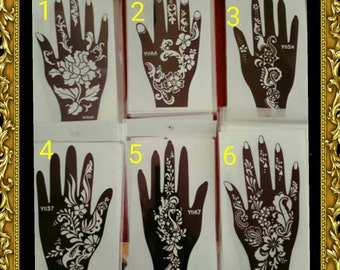 2 REUSABLE HENNA STENCILS