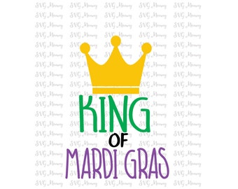 King of Mardi Gras,SVG cut file, DXF cut file, Cricut, Silhouette