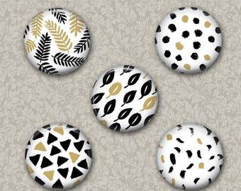 Patterns  Magnets 2 Set of 5