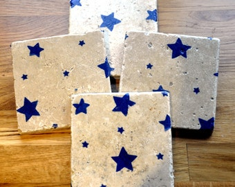Emma Bridgewater Styled Starry Skies Natural Stone Coaster