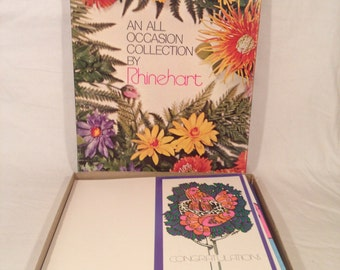 Vintage greeting cards/Vintage Rhinehart All Occasion cards/vintage birthday cards/sympathy cards/Thank You cards/Best wishes/vintage illust
