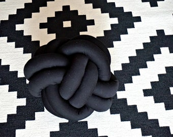 Black knot cushion
