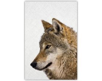 Wolf Canvas Print, Animal Wall Decor, Photographic Art, Woodland, Large Poster
