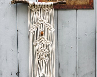 "Macramé Hand-Braided Wall Hanging ""Pride and Prejudice"""