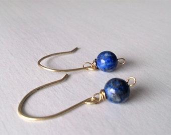 Lapislazuli ,lapislazuli earrings,dainty earrings,elegant earrings,gift for her,lapislazuli jewelry,Blue earrings,minimalist jewelry,Gift