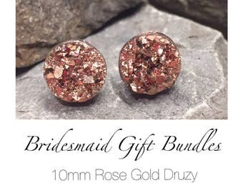 Bridesmaid Earrings - Rose Gold
