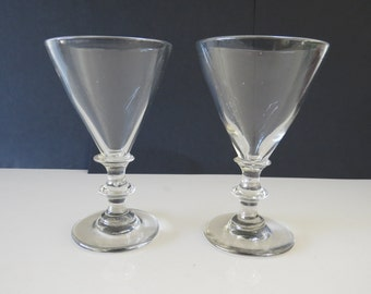 A pair of antique glass 19th century