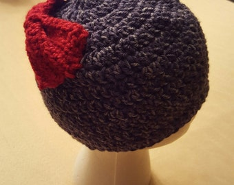 Child Ponytail Beanie Hat