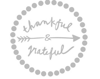THANKFUL & GRATEFUL Quality Vinyl Decal; Thanksgiving; Christmas; Yeti Decal, Car Decal, Tumbler Decal, Gifts for Him, Gifts for her!