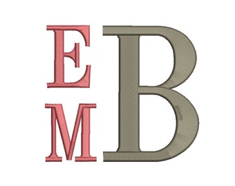 4 Size Stack Monogram Embroidery Fonts BX  9 Formats Embroidery Pattern Machine BX Embroidery Fonts PES