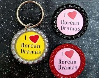 Korean drama magnets and keychain