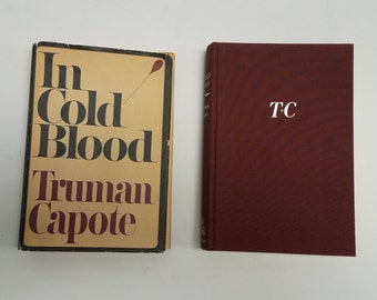 Vintage Book , Truman Capote In Cold Blood First Edition First Printing 1965 with original dust cover, True Crime Story novel