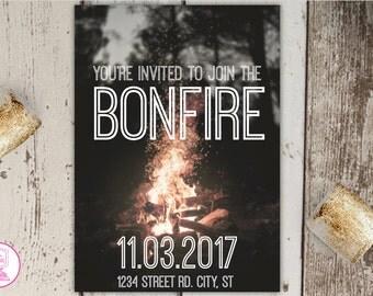 Bonfire Invitation Template & S'more Pack!