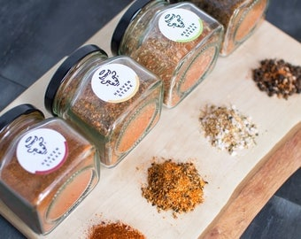 4 Seasonings in a box ideal for meats and fish 100g each