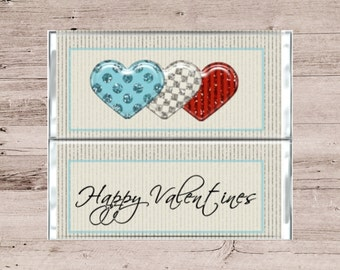 Valentines Chocolate Bar Wrapper-Valentines Candy Bar Wrapper-Valentines Candy-Valentines Chocolate-Valentines Party Favor-Glitter Hearts