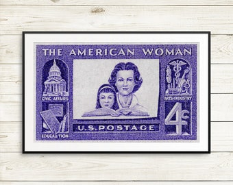 Mother's Day gifts, mother's day card, feminist mother's, feminist posters, feminism art, feminist gifts, American woman, US postage stamps