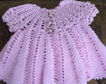 Baby girls crocheted dress